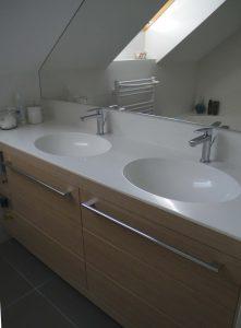 Furniran kopalniški blok, pult kerrock izdelan po meri