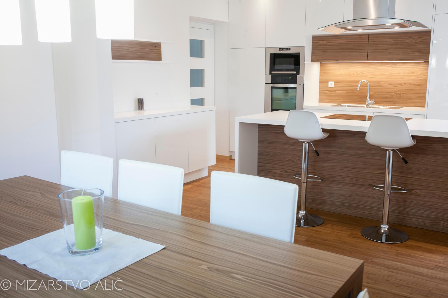Pohištvo po meri za kuhinjo in jedilnico