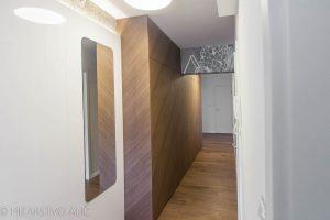 poševno furnirana vgradna omara po meri hodnik in predsoba