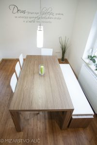 jedilniška miza in klop po naročilu